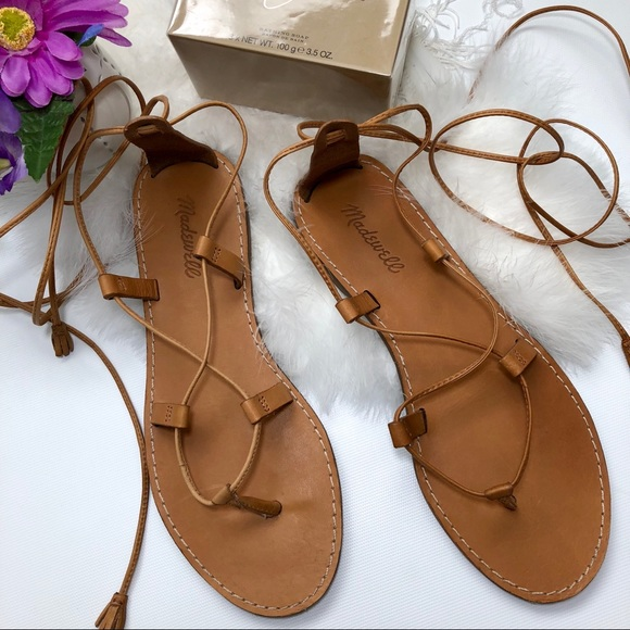 4573b3716483 Madewell Shoes - Madewell The Boardwalk Lace Up Sandals. Tan 8.5